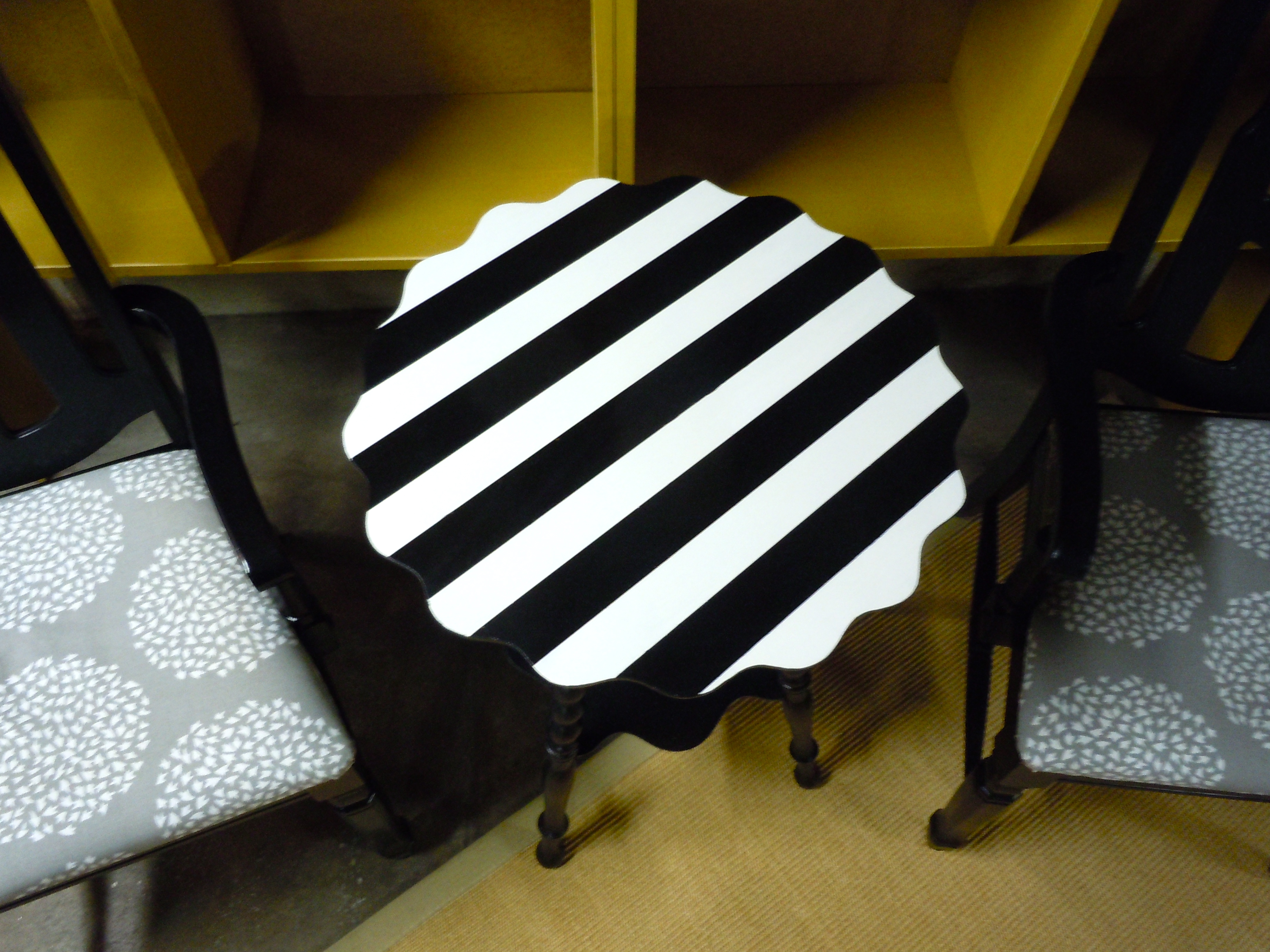 How to paint stripes on furniture suitepotato - Painting stripes on furniture ...