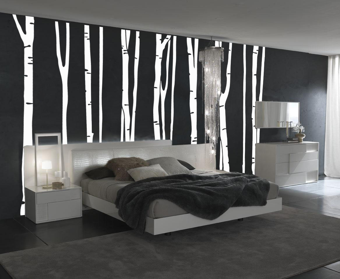 Bedroom wall art trees - Is